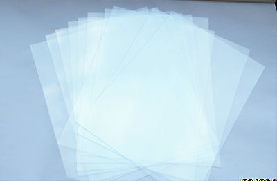 10x glasklare Folie, Mobil -oder Windrad-Folie A4, 0,18 mm dick