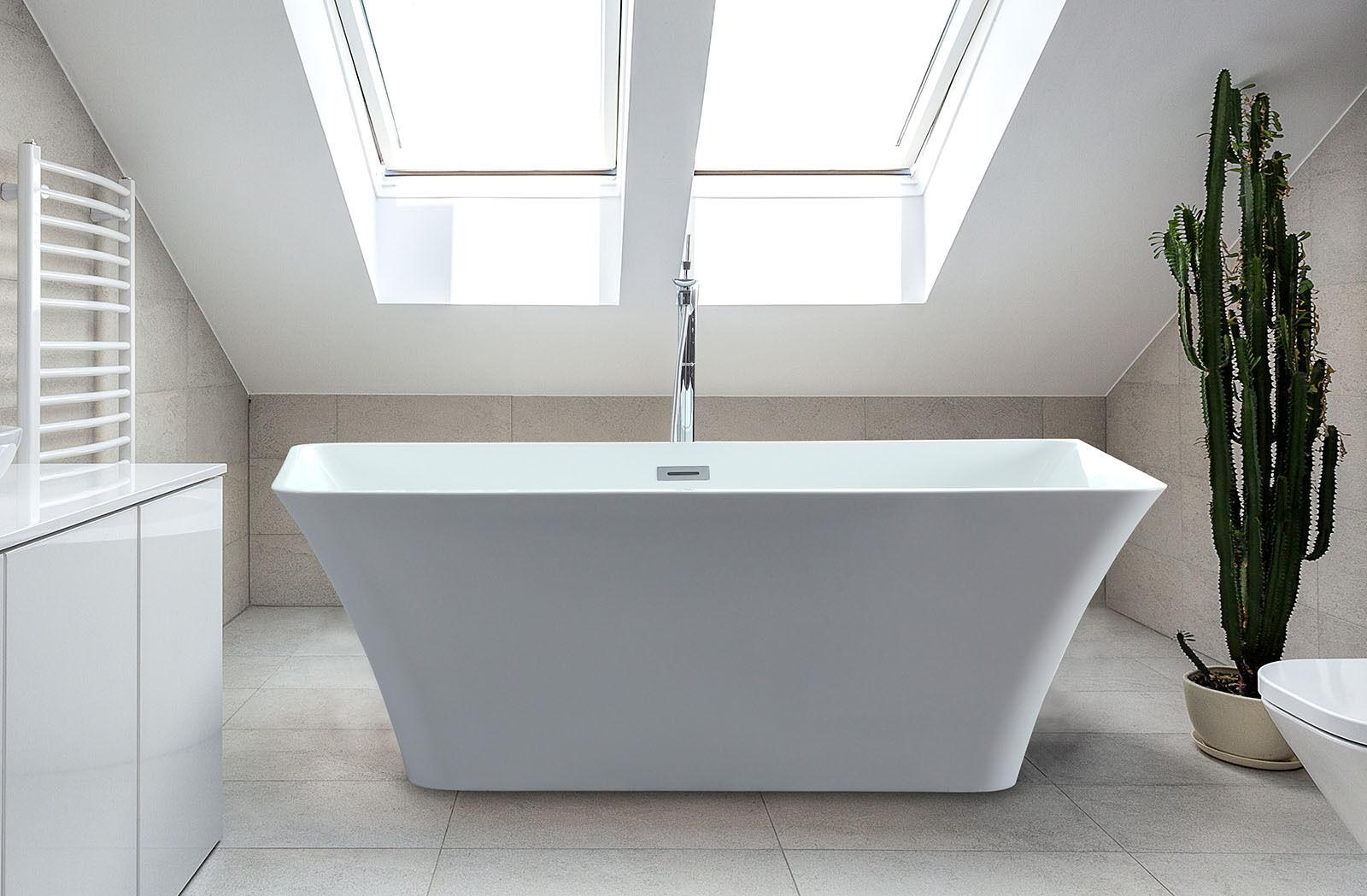 freestanding soaking acrylic bathtub rectangle bath tub