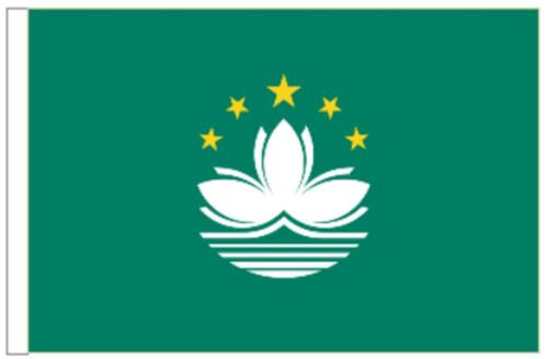China Macau Region Sleeved Courtesy Flag ideal for Boats 45cm x 30cm