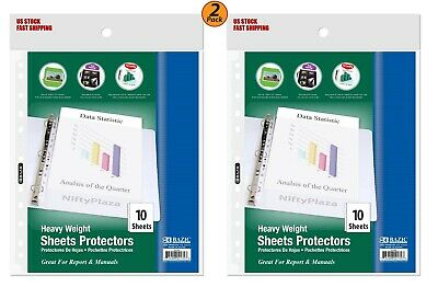 2 Pack - Heavy Weight Top Loading Sheet Protectors 10pack Protect Your Papers