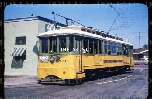 Los Angeles Transit Lines LATL Streetcar #501 Original Slide Palm Place Loop