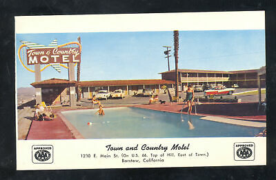 BARSTOW CALIFORNIA ROUTE 66 TOWN AND COUTRY MOTEL SWIMMING POOL POSTCARD segunda mano  Embacar hacia Mexico