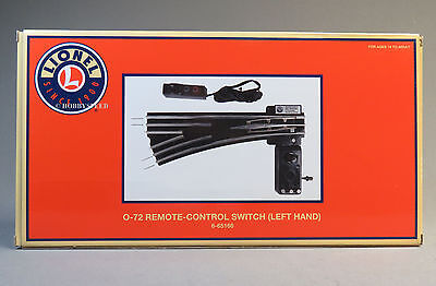 LIONEL 072 REMOTE SWITCH LEFT HAND TUBULAR track turn out o gauge 6-65166 NEW 6 Remote Left Hand Switch