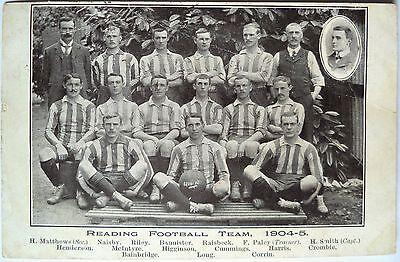 READING F.C. 1904-05 – ORIGINAL VINTAGE FOOTBALL POSTCARD