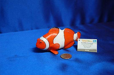 1 Large Clown Fish Figure Plastic Large Clownfish Clown Anemone Fish Safari - Clownfish Anemone