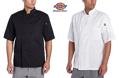 8 Button Chef Coat - Dickies Chef Donatello Short Sleeve Coat 8 button Chef Jacket DC124
