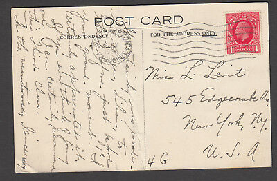 Great Britain - 1936 postcard, RMS Queen Mary to London and USA