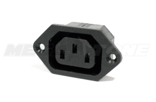 1PC 10A/250VAC IEC320 C13 Panel Mount Screw-In Female Plug Connector USA SELLER