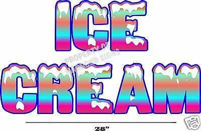 Ice Cream Lettering Decal 28 Restaurant Food Truck Vinyl Menu Sticker