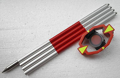 Brand New Mini Prism With 4 Poles For Total Stations Prism Constant 0-30mm