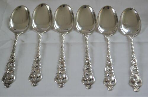 Set of Six Norwegian Silver Soup or Table Spoons BrØdrene Lohne Bergen