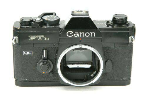 Vintage Canon FTb QL 35mm Film Black Camera Body. Meter Works. Tested. Clean.