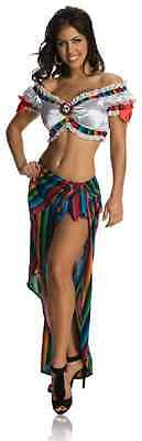 Sexy Serape Day Dead Dia Muertos Mexican Fancy Dress Halloween Adult (Rubies Mexican Costume)