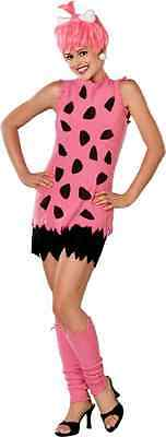 Pebbles Flintstone Pink Cave Girl Woman Fancy Dress Up Halloween Adult Costume
