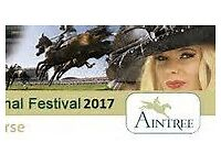 LADIES DAY TICKETS X2 GRAND NATIONAL FRIDAY 7TH APRIL 2017 FESTIVAL ZONE