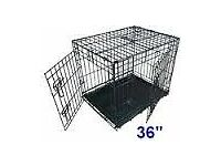 "Puppy Accessories for Sale - Starter Kit: 36"" crate, carry bag, travel bed, pet gate and more!"