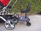 Stroller add-on sit and stand seat/platform and handlebar extend Peterborough Peterborough Area image 2