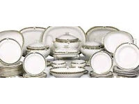 Urgently wanted good quality glassware, china, cookware, dinner sets, porcelain urgently wanted