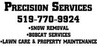 Precision Services Lawn Care, Snow Removal, Bobcat services