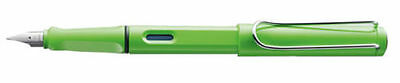 LAMY SAFARI SPECIAL  EDITION LIME GREEN  FOUNTAIN PEN  NEW IN BOX  MED PT  L13M