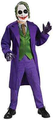 Joker Batman Dark Knight Movie Clown Villain Fancy Dress Halloween Child Costume - Batman Villains Costumes