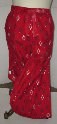 (SIMPLY STYLED PETITE WOMENS RED FLANNEL LARGE PAJAMAS LOUNGE PANTS PENGUIN NWT +)