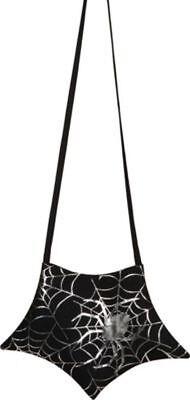 Orl - Handtasche Halloween mit Spinnennetz Muster zum Hexenkostüm (Halloween Taschen Muster)