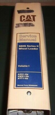 Cat Caterpillar 980g Series Ii Wheel Loader Repair Service Manual Vol I Axg Awh