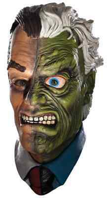 Two-Face Mask Batman Harvey Dent Fancy Dress Halloween Adult Costume Accessory](Two Face Adult Costume)