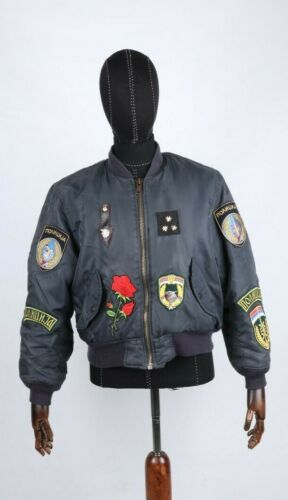 Special Police Unit JSO Black Spitfire Jacket & Patches Militaria Collectible
