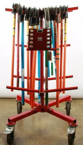 Wire Caddy Cart WCM-10 Large Capacity WITH LOTS OF BENDERS
