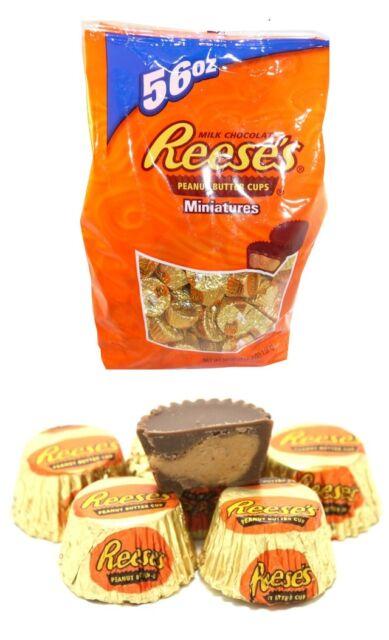 Reese's Miniatures Milk Chocolate Peanut Butter Cups 1.58kg Bag Reeses Hersheys