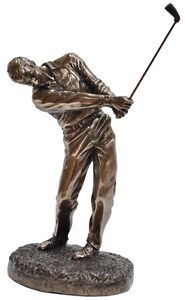 Veronese Bronze Figurine Sport Golf Golfer Home Decor Gift