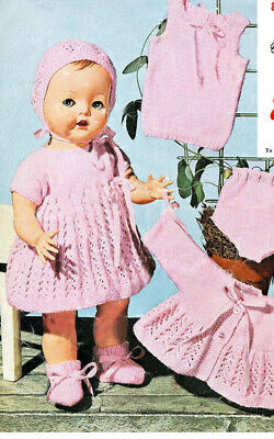 Knitting pattern. 0126. Dolls clothes for 16 & 20 inch dolls.