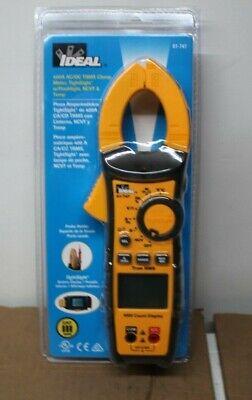 Ideal 400a Acdc Trms Clamp Meter Tightsight W Flashlight Ncvt Temp
