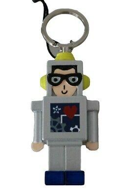DOLCE & GABBANA Keychain Silver Astronaut Robot Space Keyring RRP $400