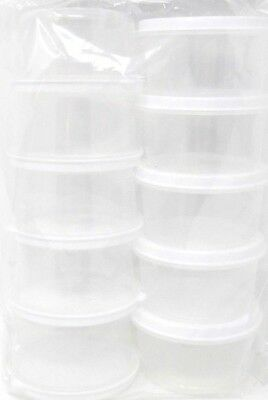 Container With Lid (Round Container, With Lid, 10-Pack, 2.3 fl oz, small, food, craft,)
