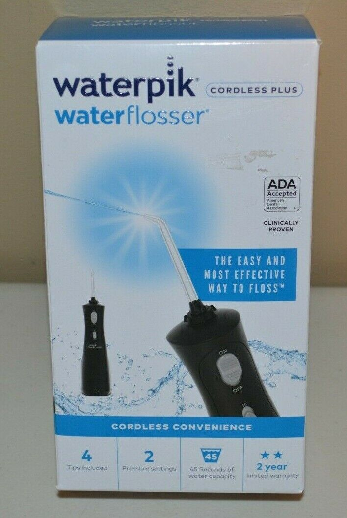 WATERPIK CORDLESS PLUS WATER FLOSSER - NEW IN BOX - MODEL WP