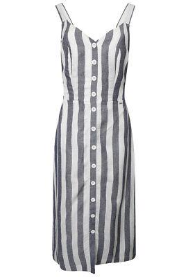 Superdry Women's Eden Linen Dress - Blue Stripe