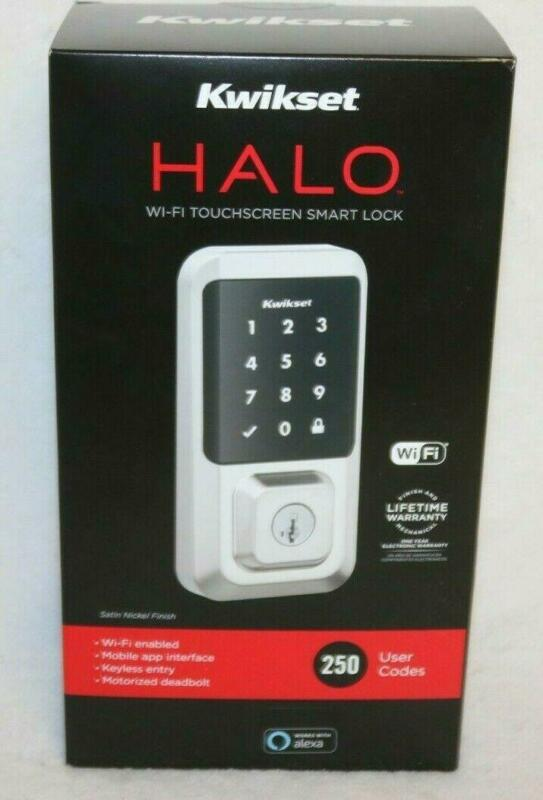 Kwikset 99390-003 Halo Wi-Fi Smart Lock Keyless Entry Electronic Touchscreen