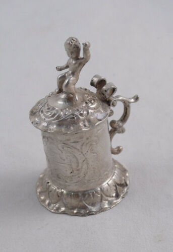 MINIATURE TANKARD DOLLHOUSE NOT STERLING SILVER