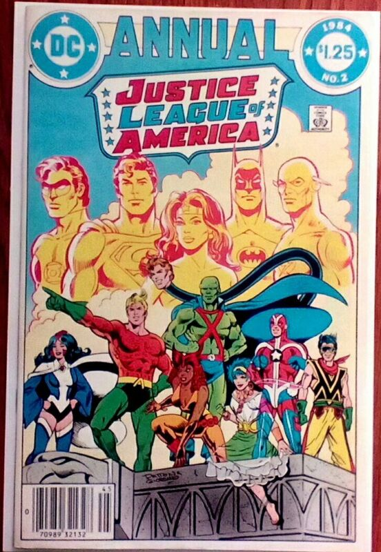 JUSTICE LEAGUE ANNUAL #2 (DC) 1984 FIRST VIBE AND GYPSY APPEARANCE !! NEWSTAND