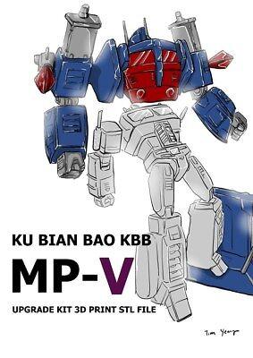 Upgrade Kit For Kbb Masterpiece Mp 10V 3D Stl Files  Read Item Description