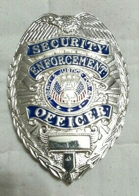 Security Enforcement Officer Metal Badge Liberty Justice For All