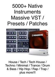 5000-Massive-VST-Presets-Patches-Pack-Native-Instruments-House-Tech