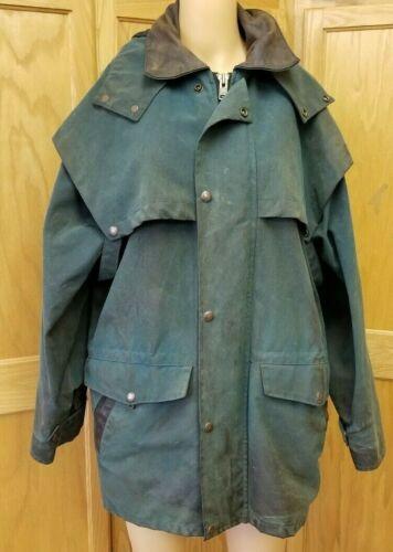 AUSTRALIAN OUTBACK COLLECTION Oil Skin Jacket w/Detachable Hood~Size M/M