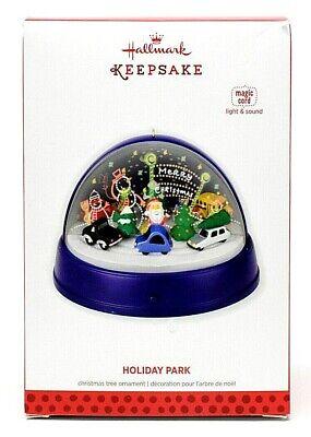 RARE NEW 2013 HALLMARK HOLIDAY PARK MAGIC LIGHT SOUND CHRISTMAS ORNAMENT SCARCE