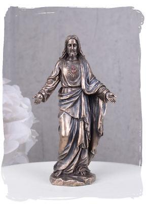 Jesus Christus Skulptur Kichenfigur Heiligenfigur Messias Heiligstes Herz Jesu