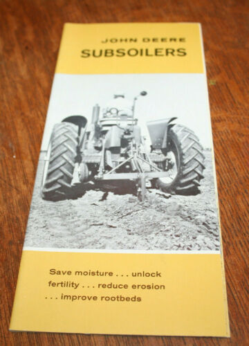 John Deere Subsoilers Brochure Integral and Wheeled Rippers 1961!
