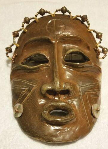 LILLIAN PITT Hand Made Clay Mask Native American Indian Artist Wasco Yakima WA